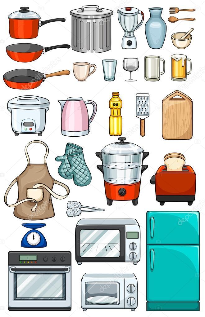 oggetti cucina — Vettoriali Stock © interactimages #71283803