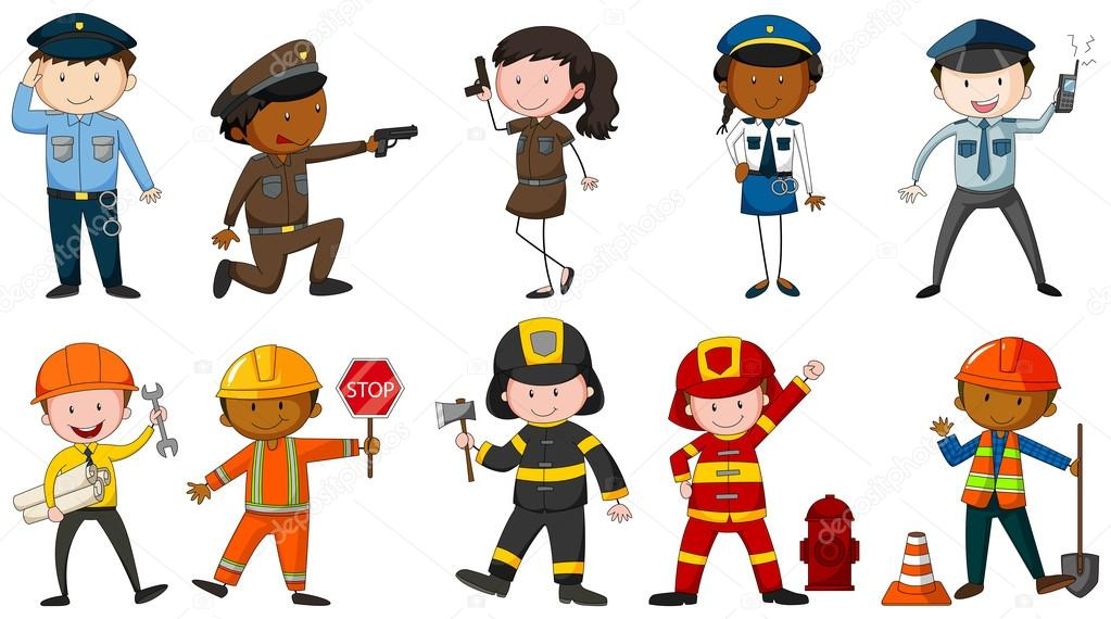 Áˆ Cartoon Different Jobs Stock Pictures Royalty Free Different Jobs Backgrounds Download On Depositphotos