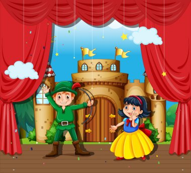 Children doing stage drama