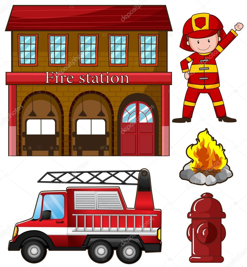 Fire Station Cartoon Images