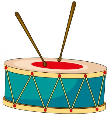 Drum with wooden sticks