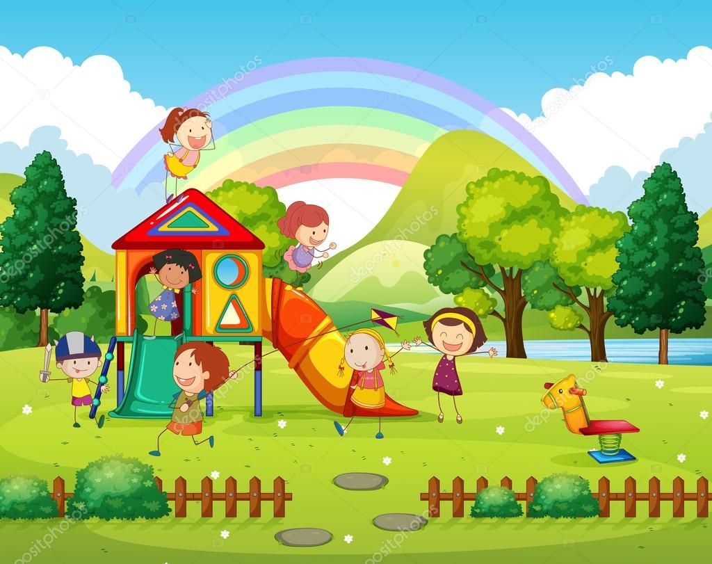 Картинки дети в парке для детей