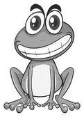 Hloupá žába sedí a s úsměvem