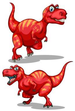 Tyrannosaurus rex with sharp teeth