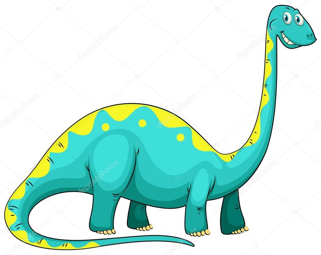 depositphotos stock illustration blue dinosaur with long neck