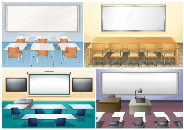 Four scenes of classroom