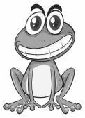 Žabička se šťastný obličej