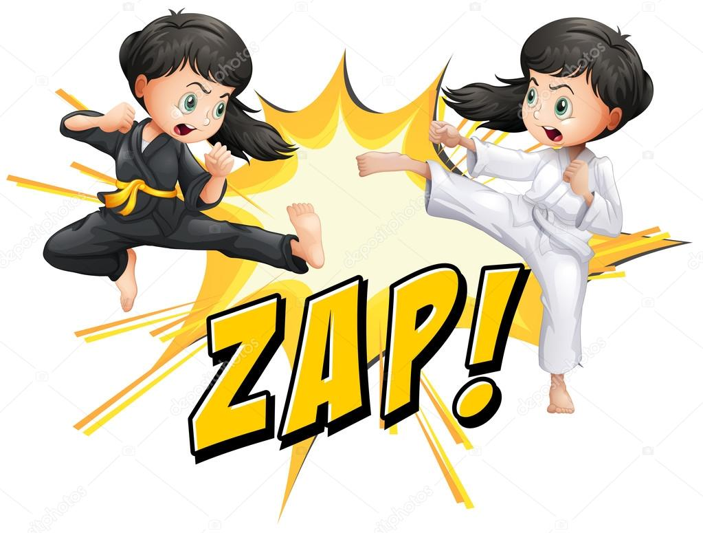 two girls fighting stock vectors, royalty free two girls fighting