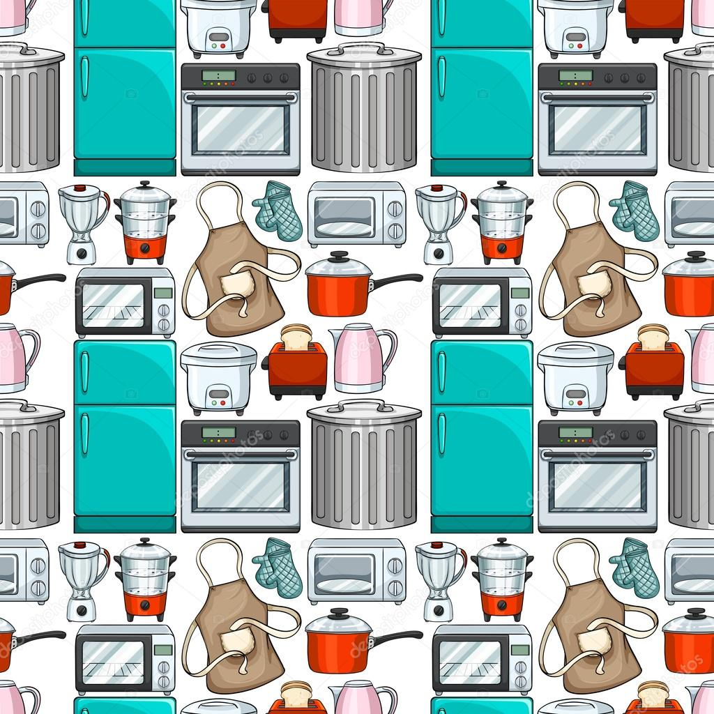 Dise o de papel tapiz transparente con utensilios de - Utensilios de cocina de diseno ...