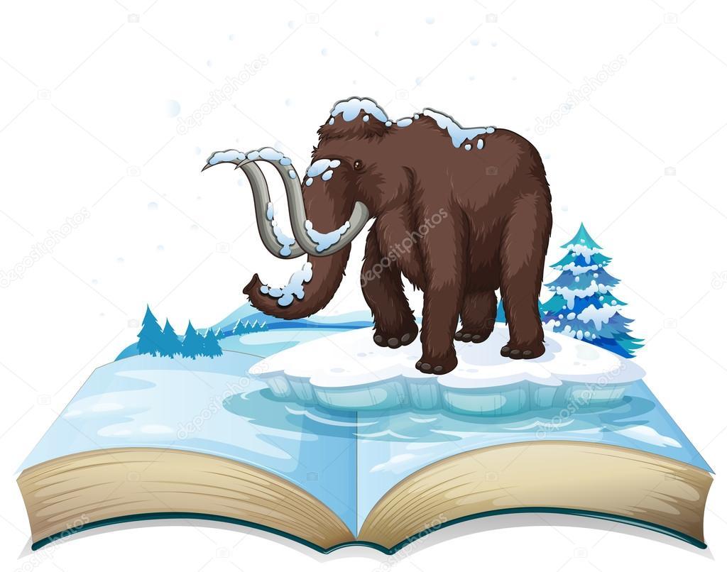 Libro de mamut en iceberg — Archivo Imágenes Vectoriales ...