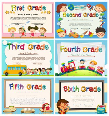 Certificates for children in primary school