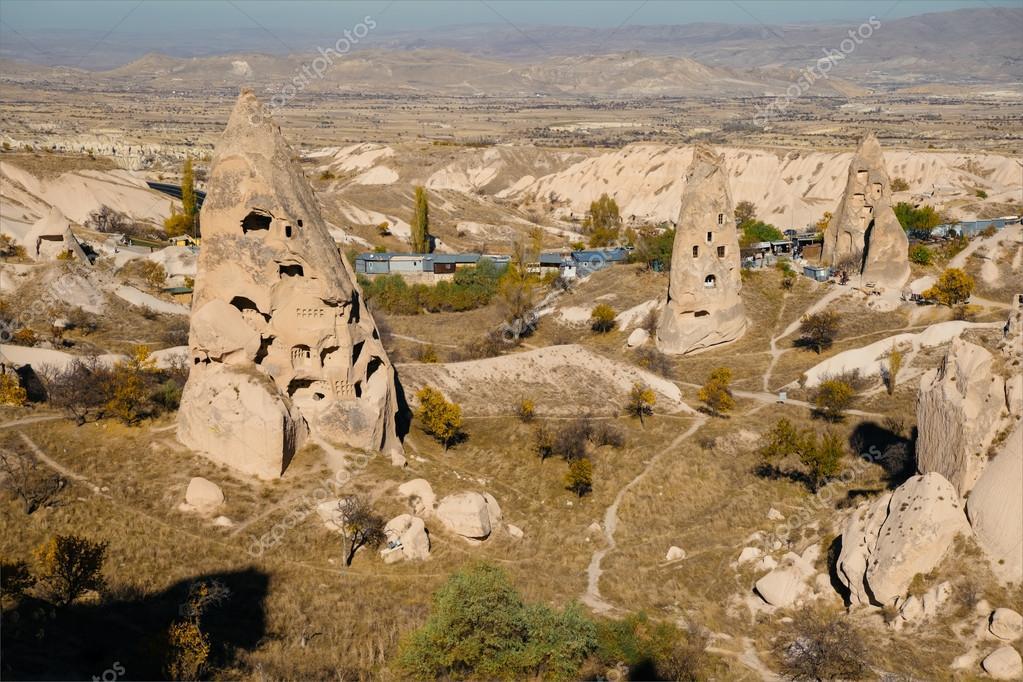Uchisar town in Cappadocia. Turkey