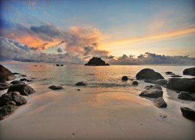 Sunrise at a tropical island
