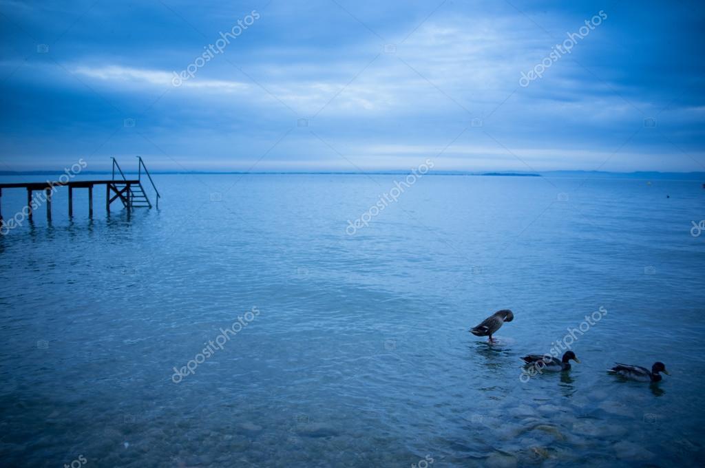 Фотообои Утренний пейзаж на озеро Гарда