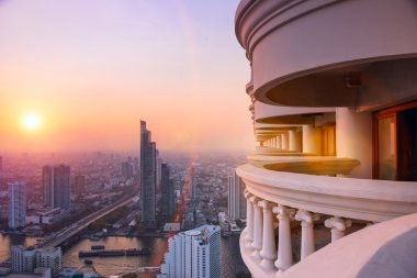 Panorama view of Bangkok skyline