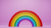 abstract rainbow background, 3d render
