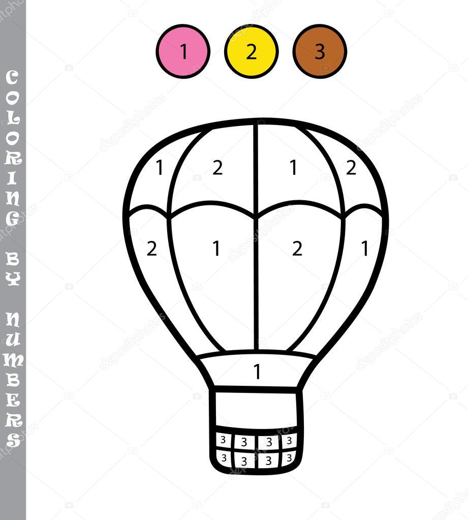 colorear por números niños educativo juego — Vector de stock ...