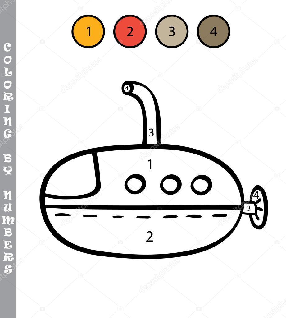 Zabawny Kolorowanki Przez Numery Edukacyjnych Dzieci Gry Grafika
