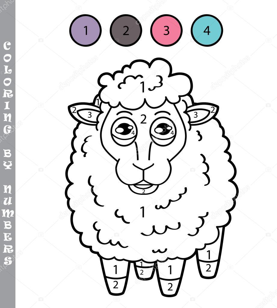 colorear por números juego — Archivo Imágenes Vectoriales © boyusya ...