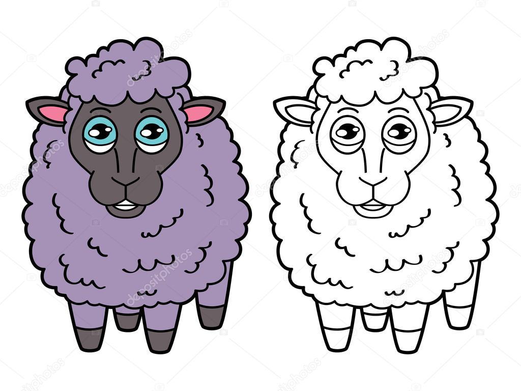 Página para colorear de ovejas — Archivo Imágenes Vectoriales ...