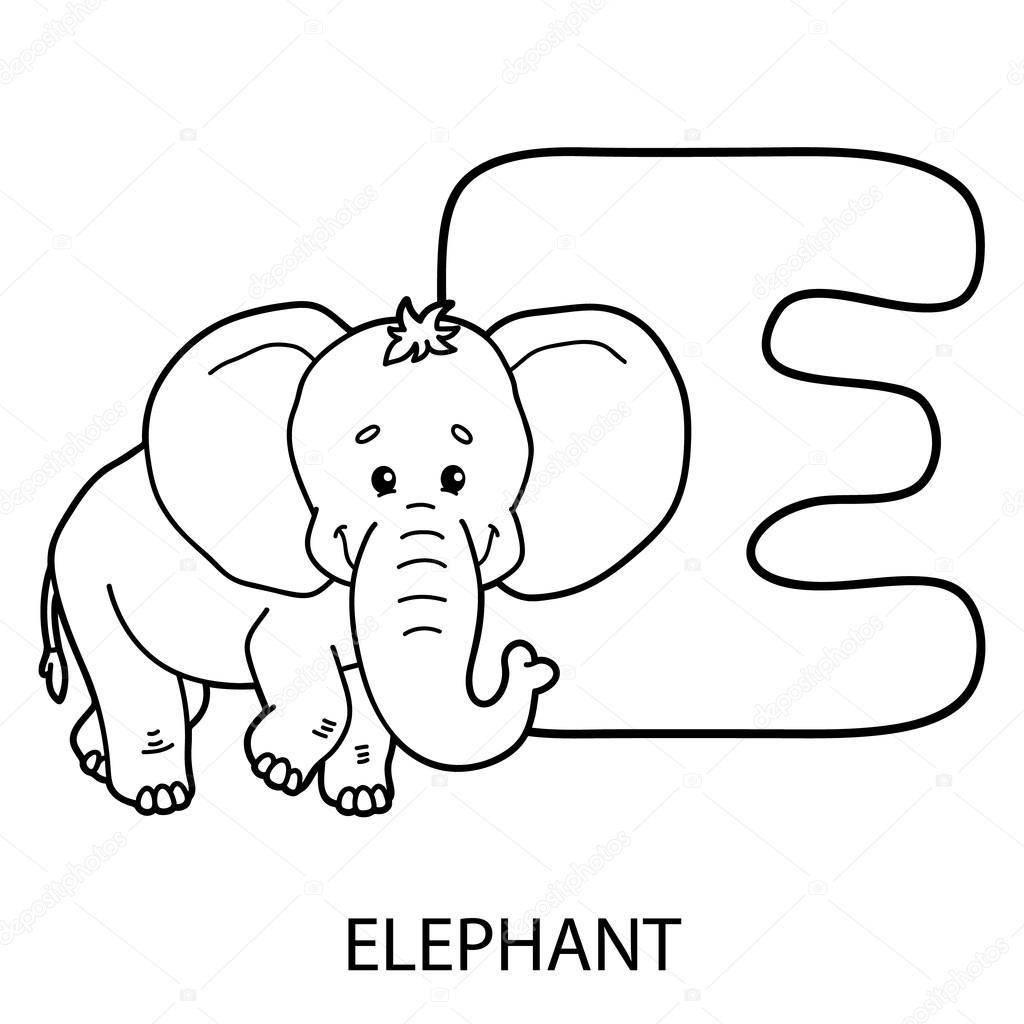 Coloriage Alphabet Francais.Coloriage Alphabet Animaux Image Vectorielle Boyusya C 106895904