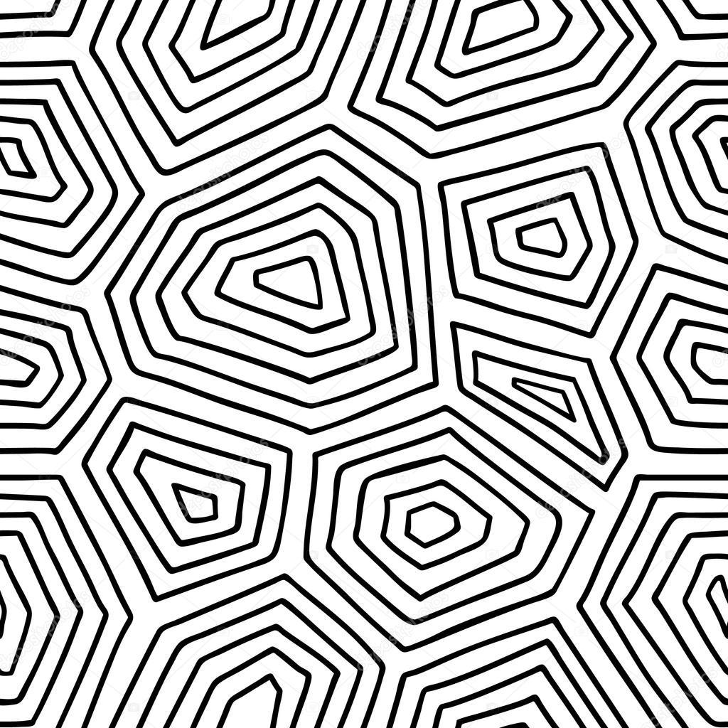ornate turtle shell pattern. — Stock Vector © boyusya ...