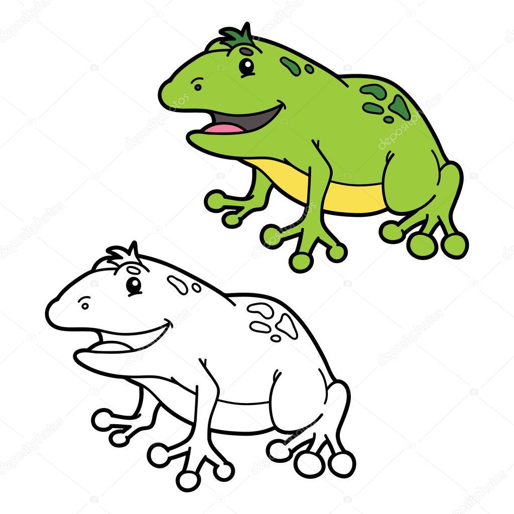 funny frog coloring page . — Stock Vector © boyusya #113328210