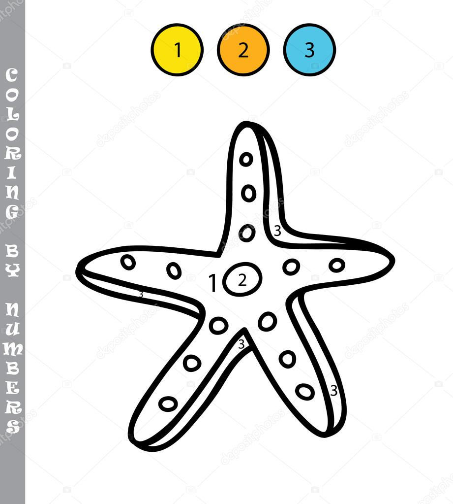 Numaraları Eğitim Tarafından Komik Boyama Oyunu çocuklar Stok