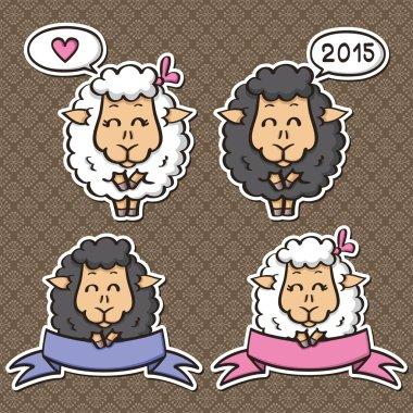 Sheep - symbol of New 2015 Year