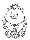 Všechno nejlepší k narozeninám dívka medvěd.