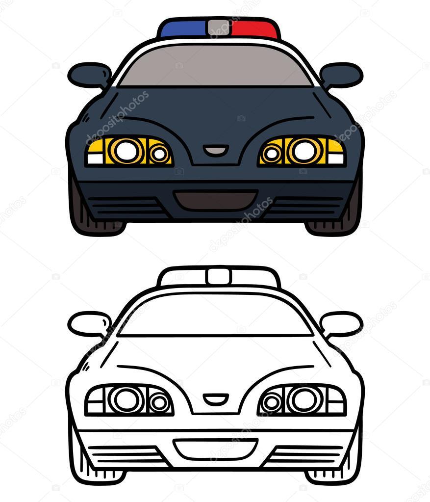 coche de policía — Vector de stock © boyusya #62137751