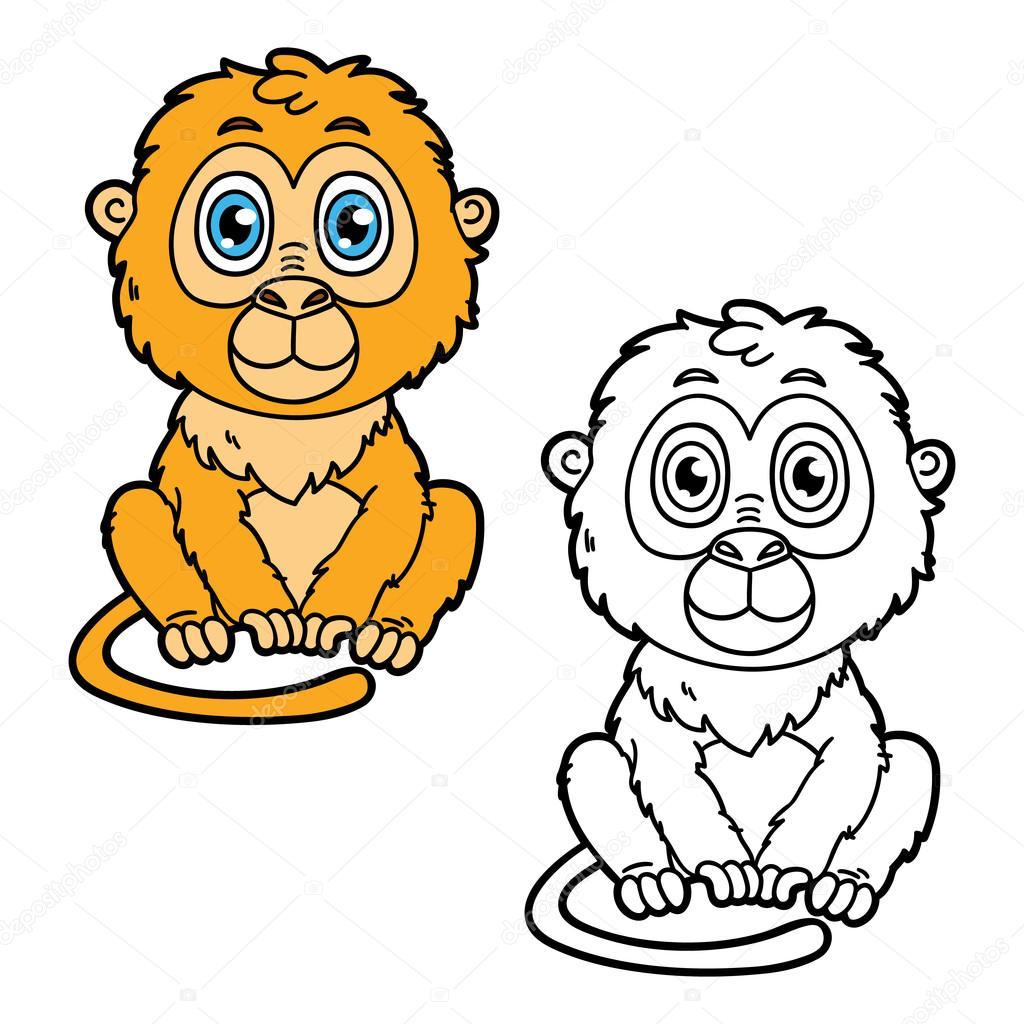 Funny Monkey Stock Vector C Boyusya 64377975