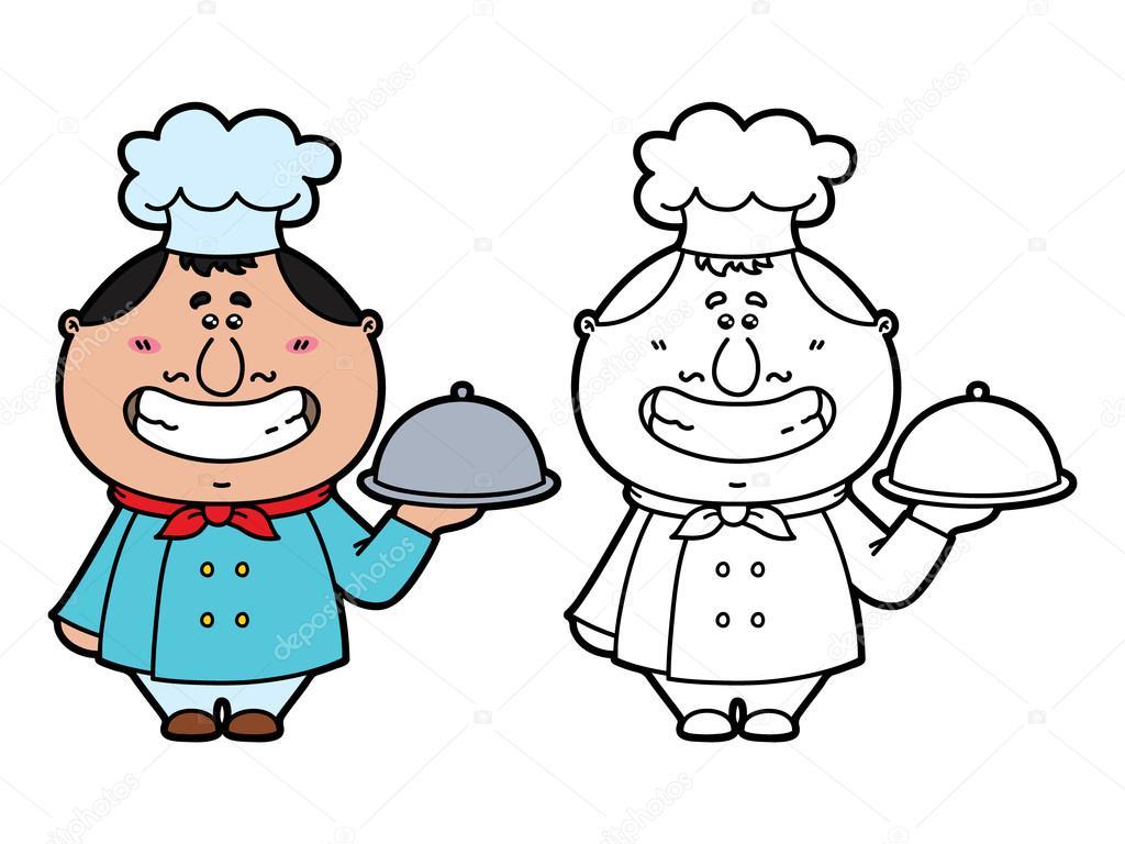 Komik Aşçı Stok Vektör Boyusya 66627031