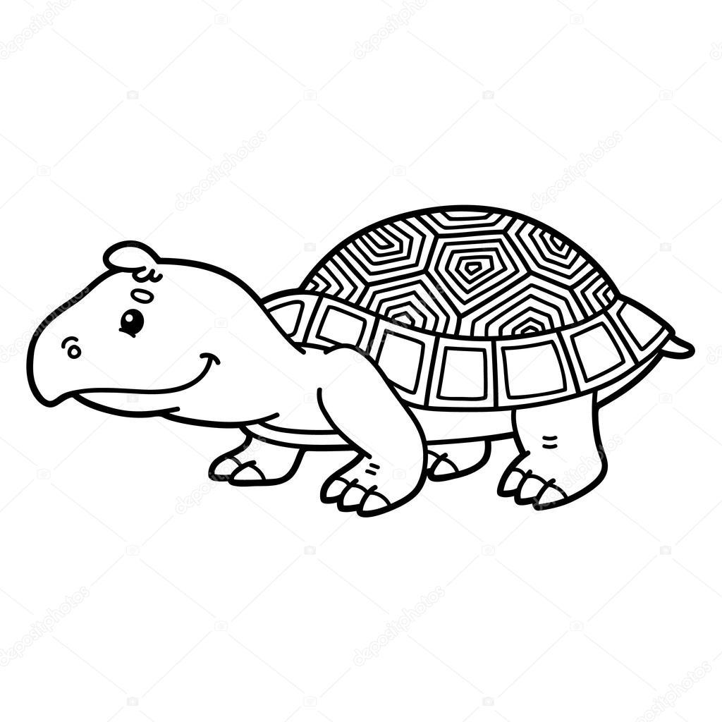 tortuga de dibujos animados lindo — Vector de stock © boyusya #87403552