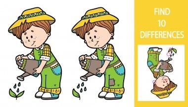 Find differences gardener game.