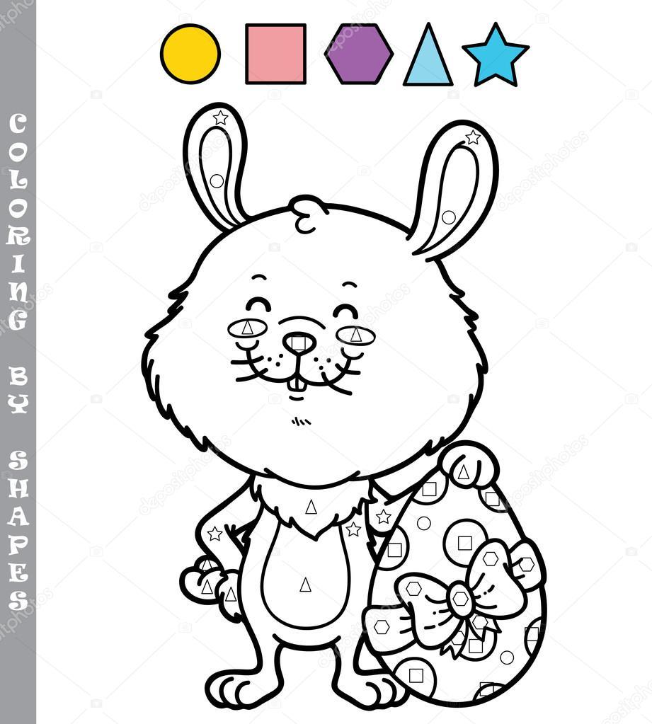 Komik Tavşan Boyama Oyunu Stok Vektör Boyusya 97344400