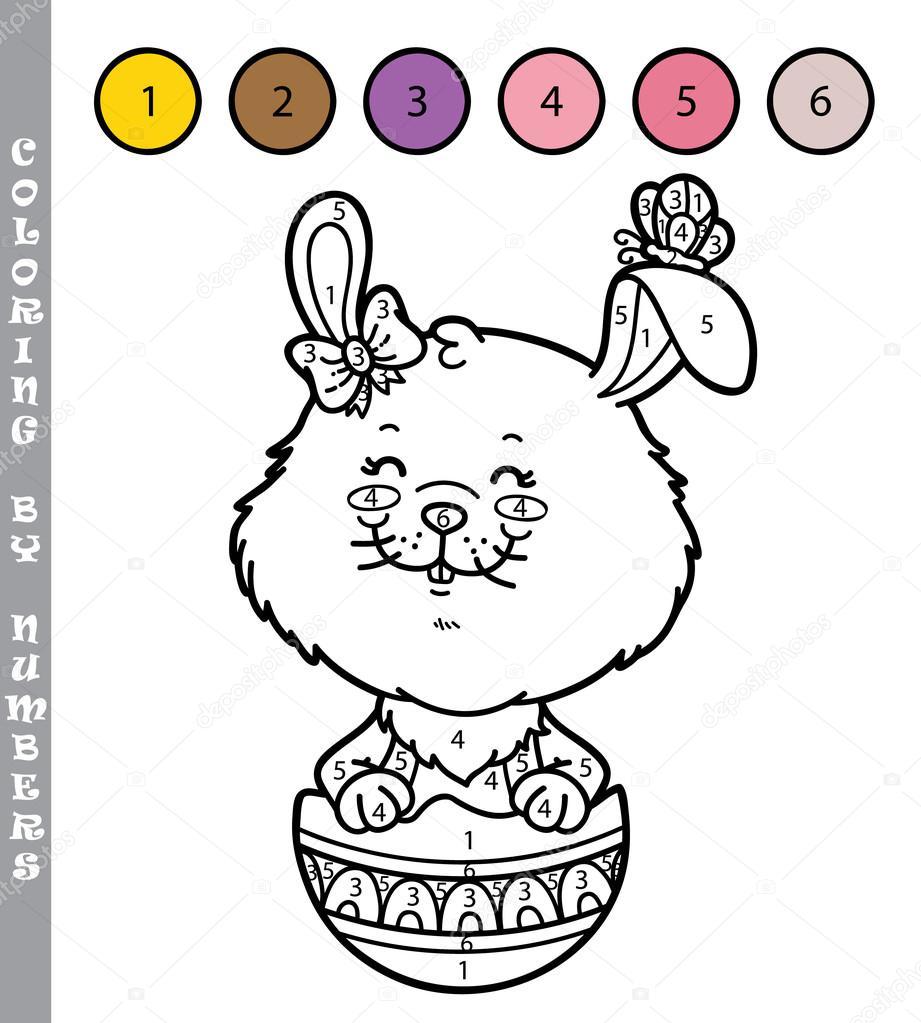 Funny bunny para colorear juego — Vector de stock © boyusya #97344402