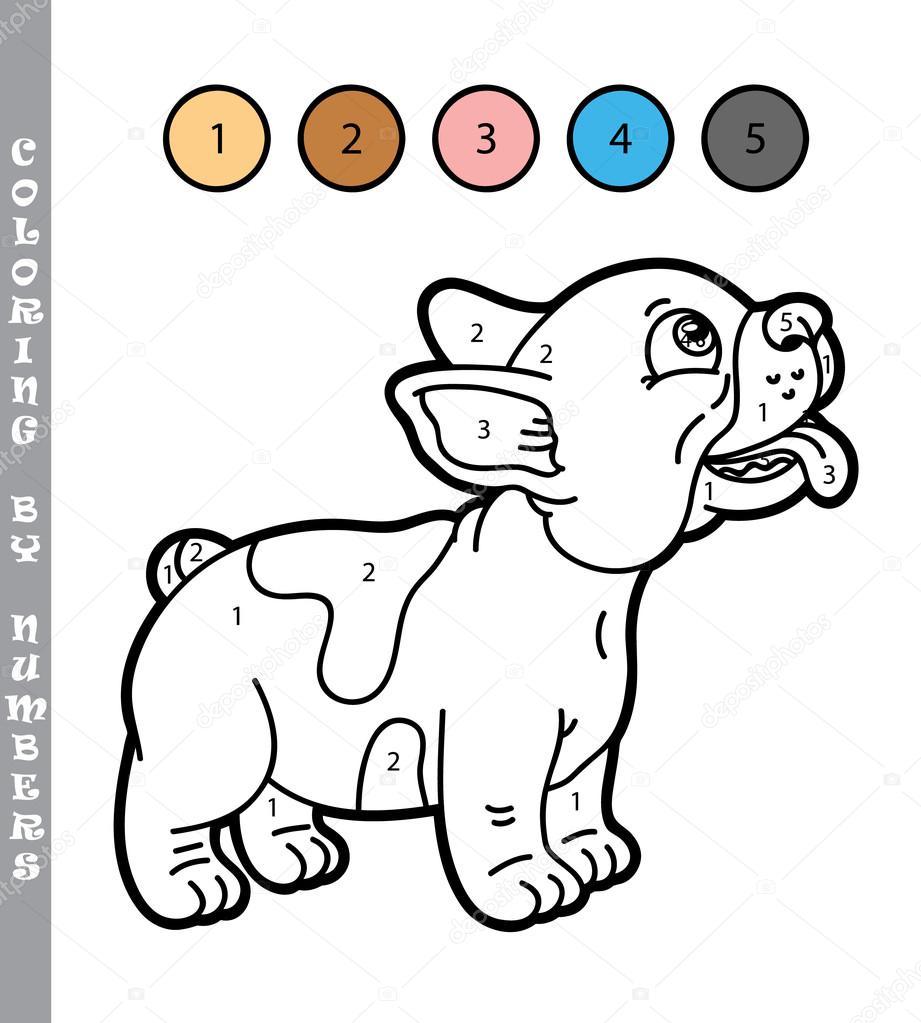 Grappige Puppy Kleurplaat Spel Stockvector C Boyusya 97344408