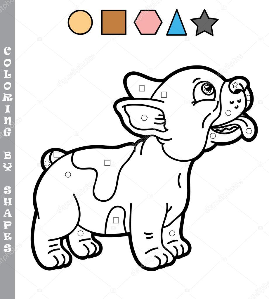 Cucciolo divertente gioco da colorare vettoriali stock - Cucciolo da colorare stampabili ...