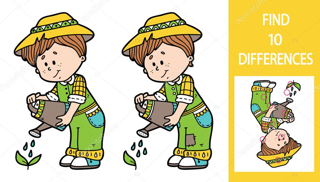 Find differences gardener game.