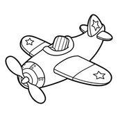 Roztomilý letadlo obrys