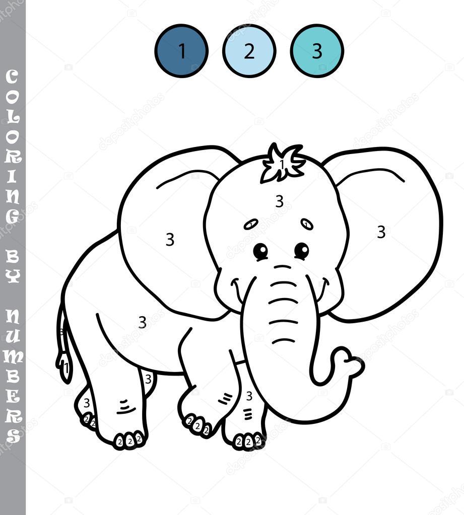 Imágenes: ñu para colorear | divertido para colorear por números