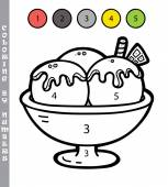 Photo funny coloring by numbers game.