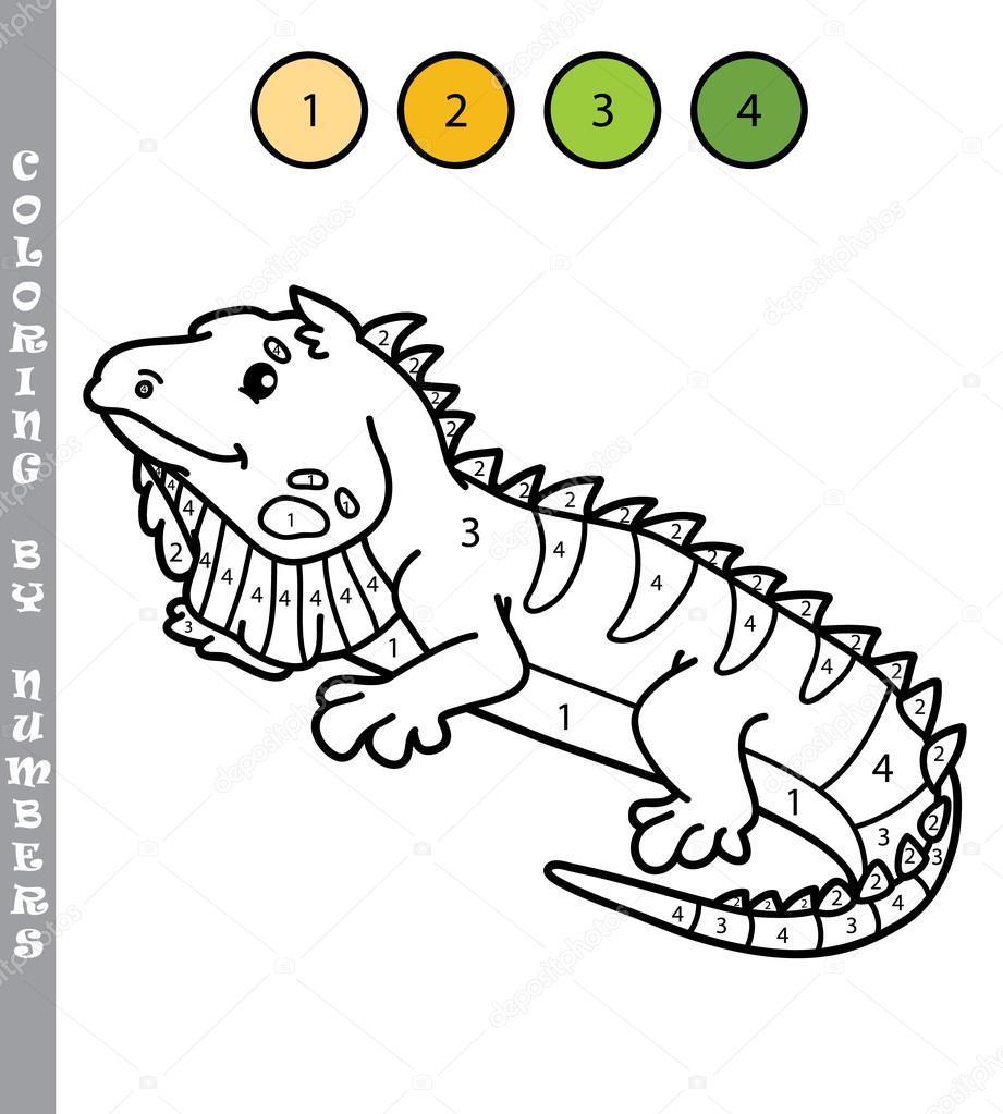 Divertido Para Colorear Por Números Juego Archivo Imágenes