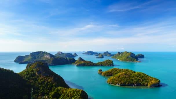 4K Timelapse of Angthong national marine park, koh Samui, Thailand