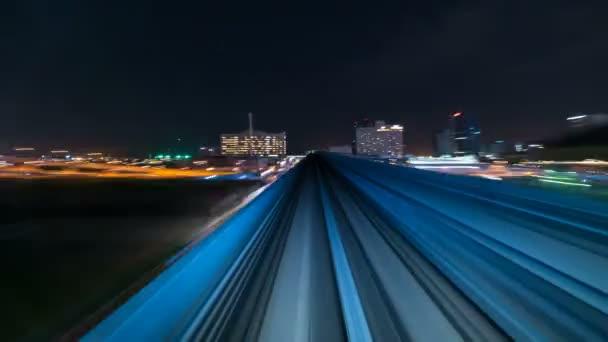 4k Timelapse a mozgó vonat Tokióban, Japán
