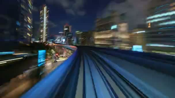 Timelapse of moving train in Tokyo, Japan (4K, UHD)