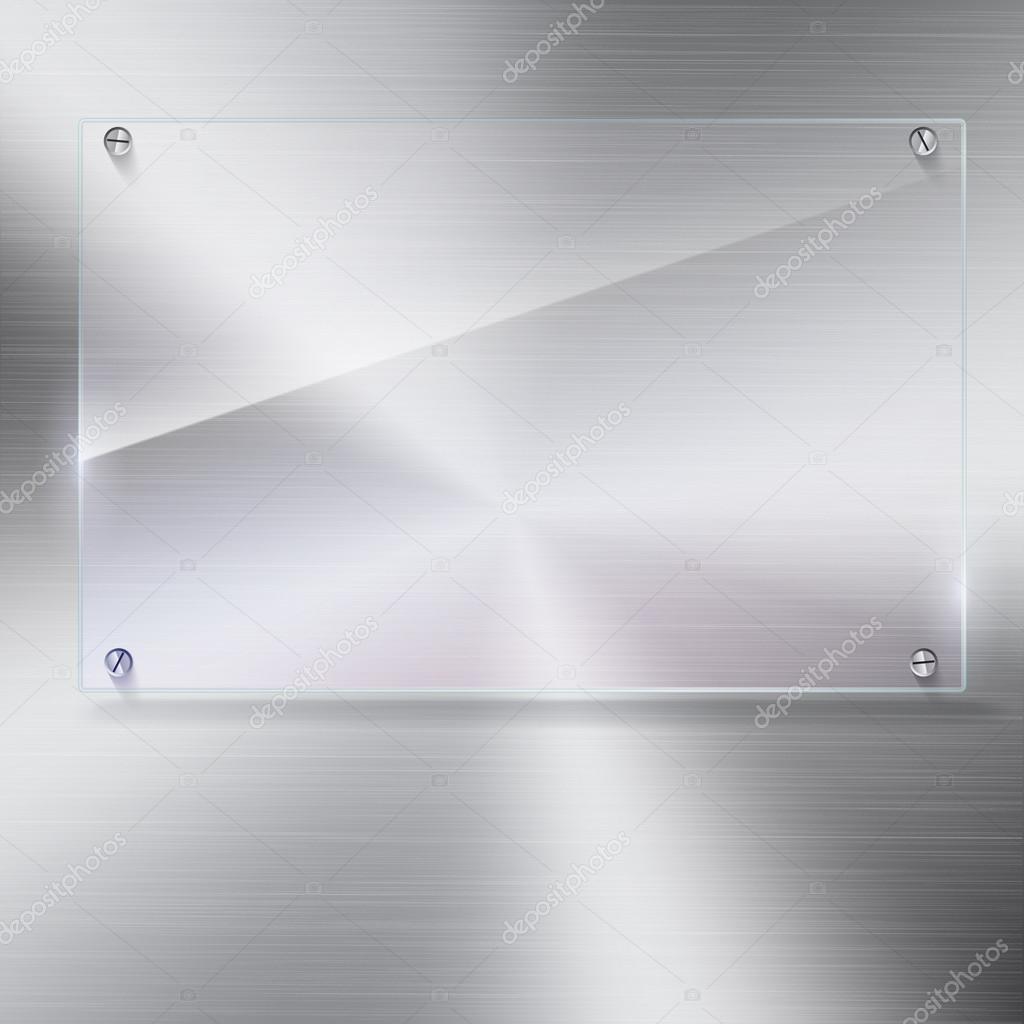 Marco de cristal de vector con remaches — Vector de stock © master ...