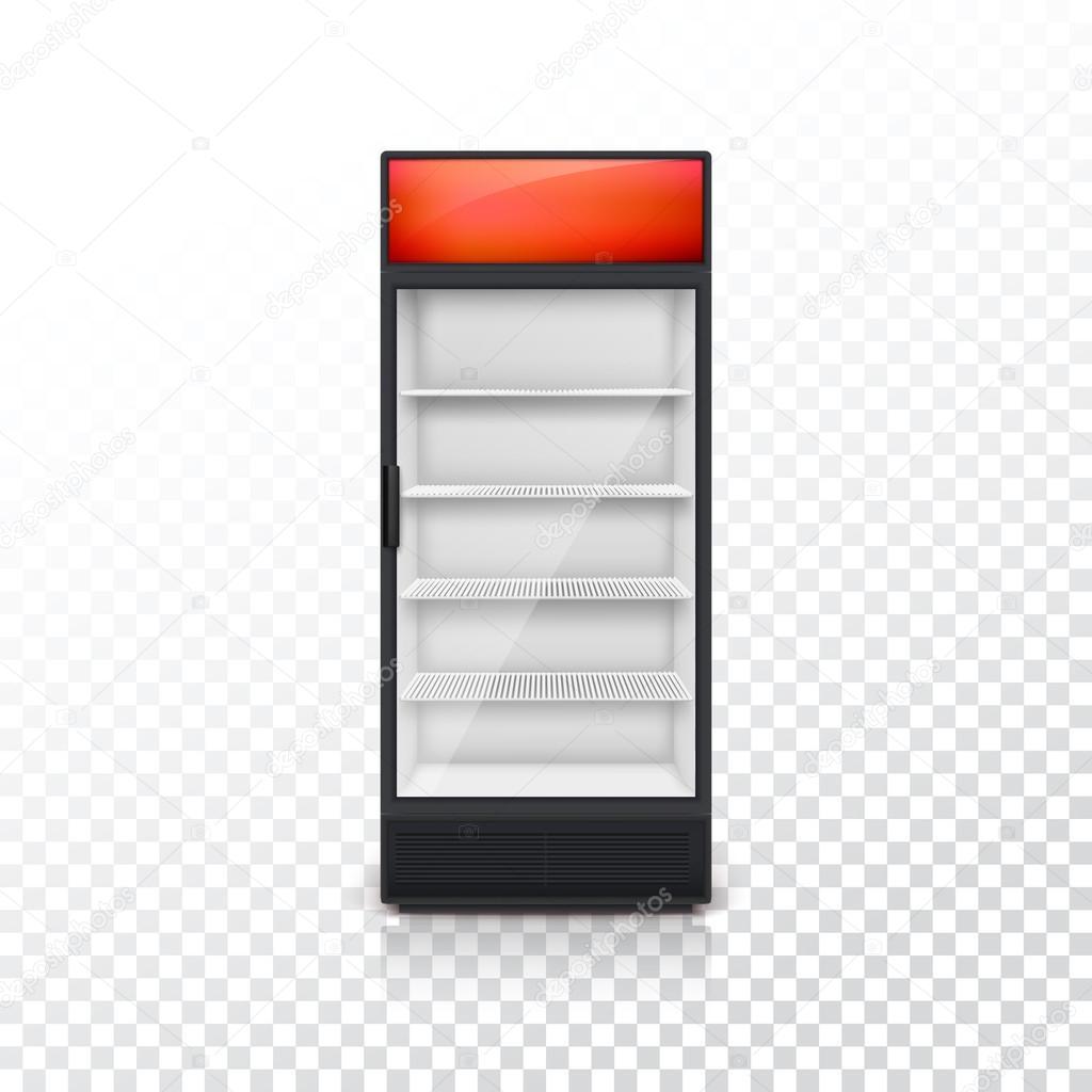 Getränke Kühlschrank mit Glastür — Stockvektor © master-erik #117744470
