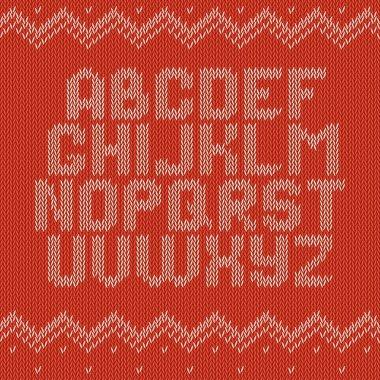 Crochet font knitted ornament